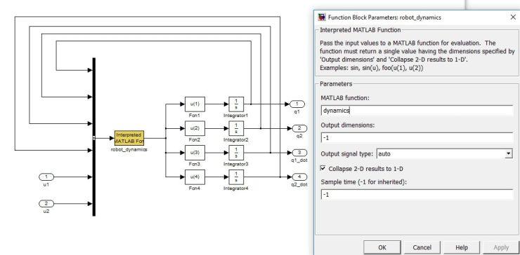 بلوک Interpreted Matlab Fcn